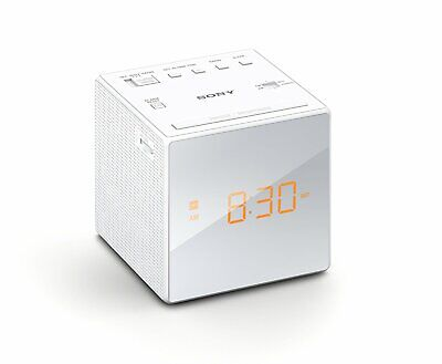 Sony ICFC1 Alarm Clock Radio FM/AM Programmable 10-Station Preset White