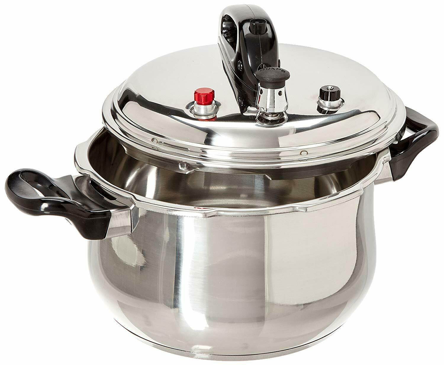 Stainless Steel Pressure Cooker With 6 Safety Features,5.3/7