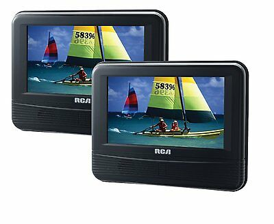 NEW RCA DRC69705E22 7-Inch Dual Screen Headrest Strap Car LCD DVD Player Remote
