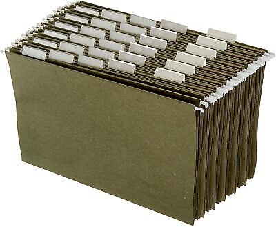 Hanging Office Cabinet File Folders - Legal Size Green - Pack Of 25