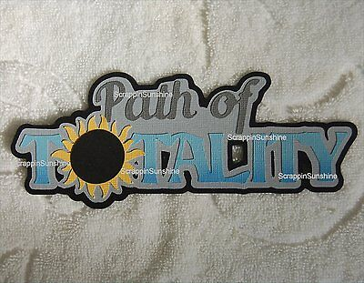 SOLAR ECLIPSE Path of Totality Die Cut Title Scrapbook Page Paper Piece SSFFDeb