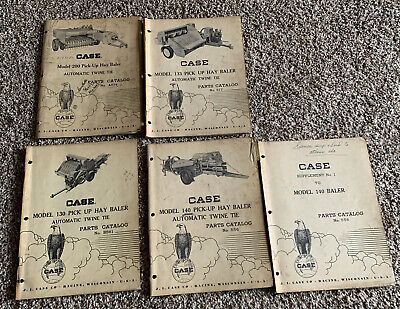 Vintage J.i. Case Lot Of 4 Parts Cataloghay Baler Different Models