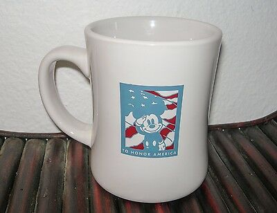 Disney Club D23 To Honor America Coffee Cup Mug Patriotic Mickey Mouse White