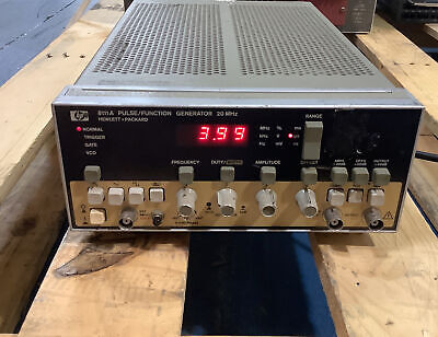 Hp Agilent 8111a 20 Mhz Pulsefunction Generator Tested For Power Only