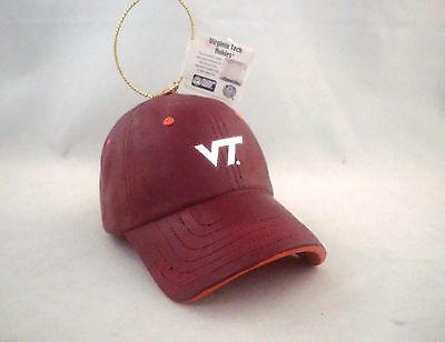 Virginia Tech Hokies Gift (VIRGINIA TECH HOKIES * SOLID RESIN BASEBALL CAP * NCAA CHRISTMAS ORNAMENT *)