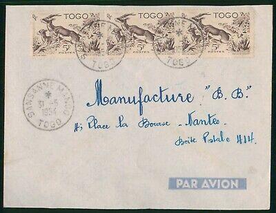 Mayfairstamps Togo 1954 Sansanne Mango to France Airmail Cover wwo90401