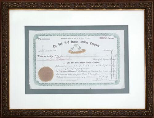 1905 Bull Frog Nugget Mining Co Stock Certificate - Bullfrog Nevada (Rhyolite)