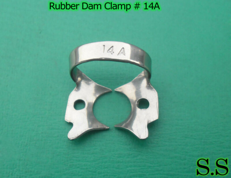 3 ENDODONTIC RUBBER DAM CLAMPS # 14A Dental Instruments