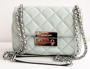 AUTHENTIC-Michael-Kors-Tasche-Bag-Sloan-SM-Shoulder-Leather-Celadon-NEU