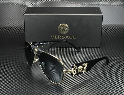 VERSACE VE2150Q 12526G Pale Gold Grey Mirror Black 62 mm Men's Sunglasses