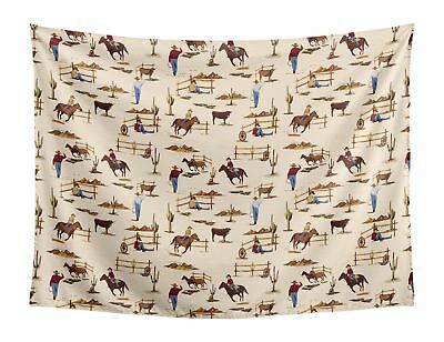 Wild West Cowboy Wall Hanging Fabric Tapestry Art Boy Room Decor by Sweet Jojo