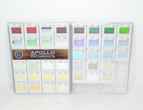 Lot of 38 Apollo Design Dichroics Glass Filters Slides Gobo for Stage Lighting