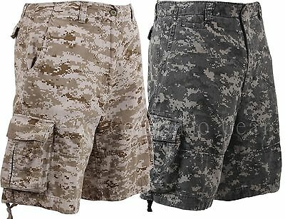 Vintage Infantry Cargo Shorts   Utility Digital Camo Shorts Relaxed Fit   Xs 3Xl