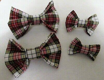 Adjustable Dog Bow Ties~ Multicolored Tartan Plaid  ~ S, M, L, XL Dog Bow Tie