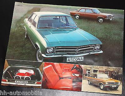 Prospekt Opel Ascona 9/71 (D) Baureihe A Autoprospekt brochure broschyr