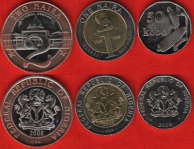 NIGERIA 1//2 TO 50 KOBO 4-PIECE VINTAGE COIN SET