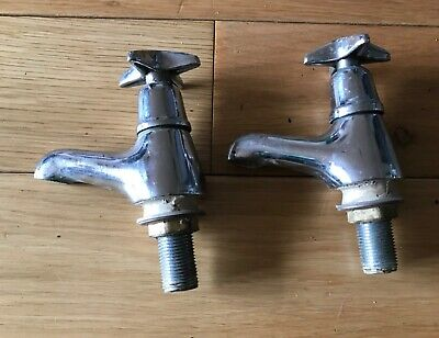 Pair of Vintage Sink Taps hot & cold