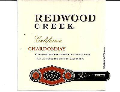 Redwood Creek Chardonnay Wine Bottle Labels