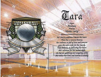 Sports Volleyball  Name Meaning Print Personalized  Sports  Volleyball