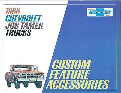 Chevrolet Truck Accessories Brochure - 1968 CHEVROLET TRUCK  GENUINE ACCESSORIES BROCHURE-COVERS ALL MODELS
