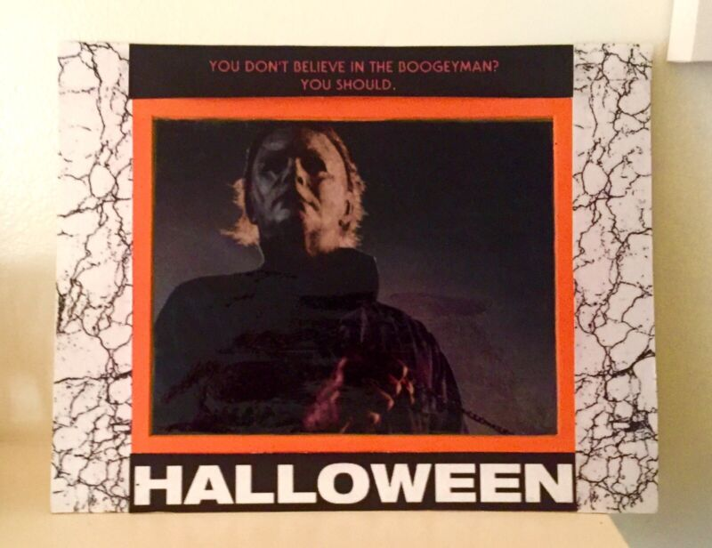 Michael Myers 2018 Photo With Handmade/designed Photo Back And Frame Kit