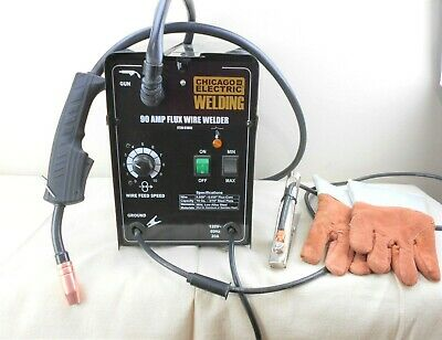 Chicago Electric Flux 125 Welder 90 Amp Never Used With Welding Gloves