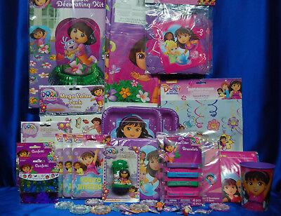 Dora The Explorer Party Set # 36  Dora The Explorer Party Supplies For 16 - Dora Party Supplies
