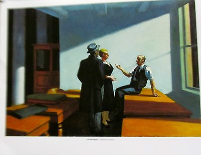 Edward Hopper Poster of Conference at Midnight  14x11 Unsigned Offset Lithograph Hopper Modern Poster