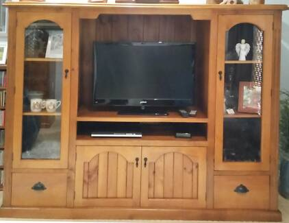 wall unit, light timber, display cabinet, tv entertainment unit ...