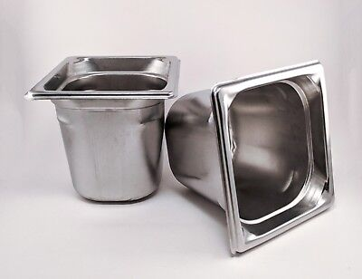 2 - Vollrath Super Pan 3 - 16 Size X 6 Prep Steam Buffet Stainless -ships Free