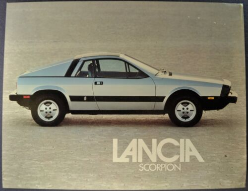 1978 Lancia Scorpion Sales Brochure Sheet Nice Original 78