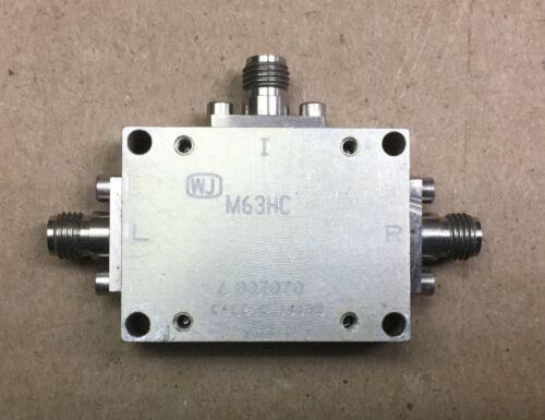 RF WJ WATKINS JOHNSON M63HC 2.5-6.5GHz SMA Microwave Coax Double Balanced Mixer