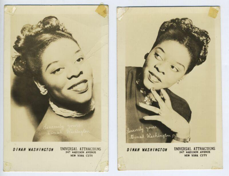 Dinah WASHINGTON (Jazz): Two Postcard Photographs