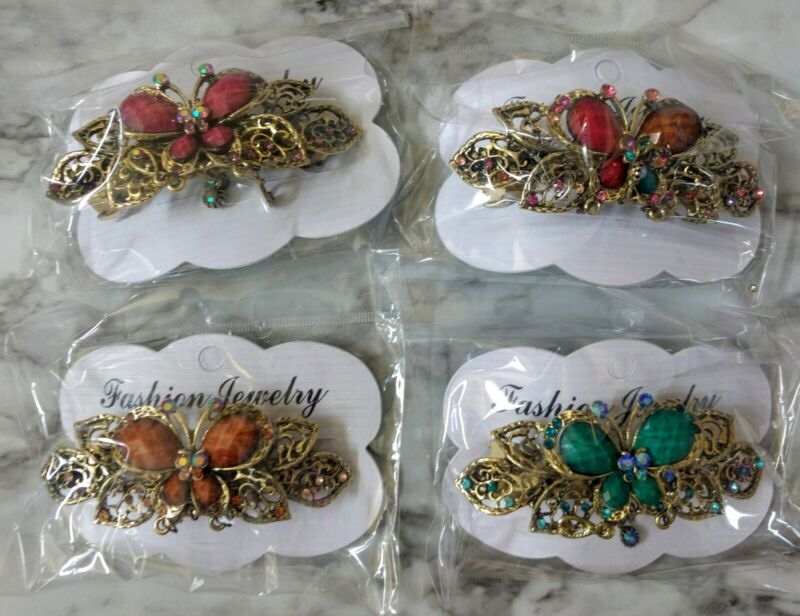 4Pack Vintage Butterfly Hair Clip