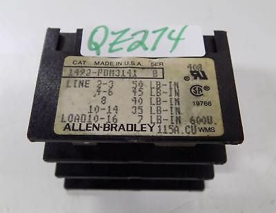 Allen Bradley Mini Power Terminal Block 1492-pdm3141 Series B