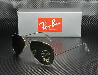 RAY BAN RB3025 L0205 Aviator Gold Grey Green 58 mm Men's (Ray Ban Aviators Sunglasses)