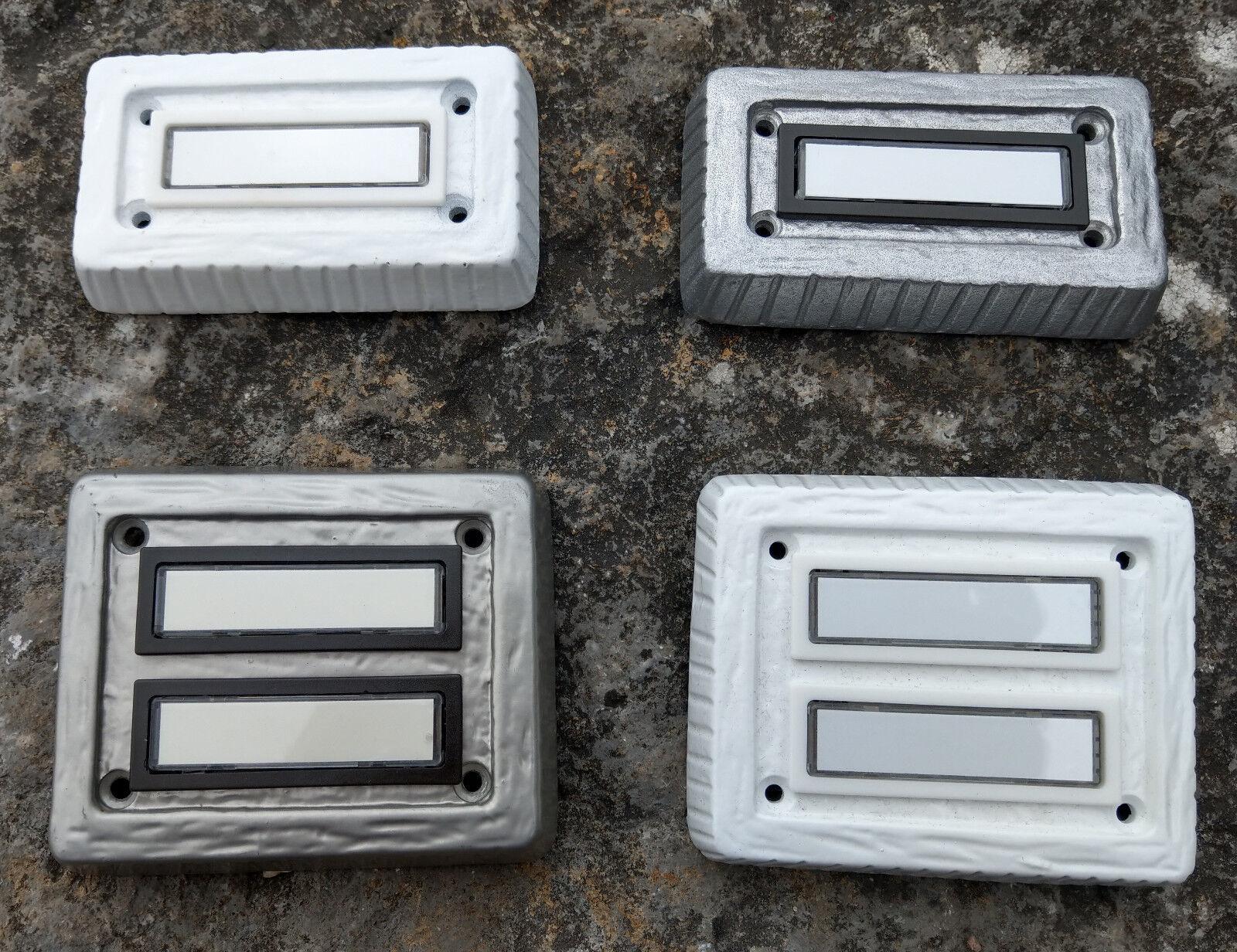 Klingel Klingeltaster Klingelknopf Klingelplatte LM-Metall / titan  - Auswahl