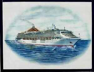 Original Art Work Ms OCEANAPampO Cruises Cruise Ship
