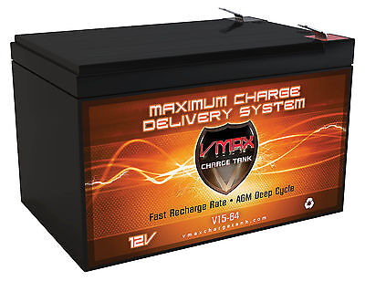 VMAX64 12V 15Ah Altered Electric Skateboard M4 800 AGM SLA Battery Upgrades 12ah