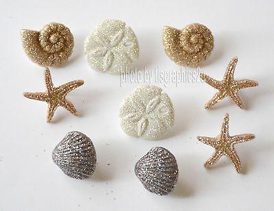 Seashells at the Seashore / Glitter Seashell Buttons / Jesse James / Dress It Up