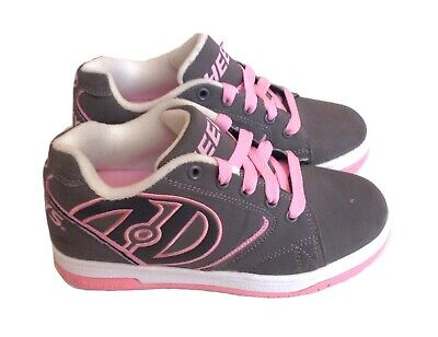 Girl's Heelys Propel 2.0 Grey / Pink Youth Size 2 Style #770380 *SHIPS FREE*