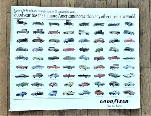 Goodyear Car Poster -  Cars of 1986