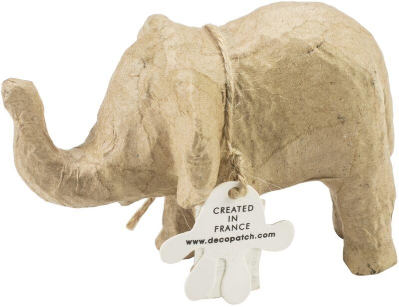 "Paper-Mache Figurine 4.5""-Elephant"
