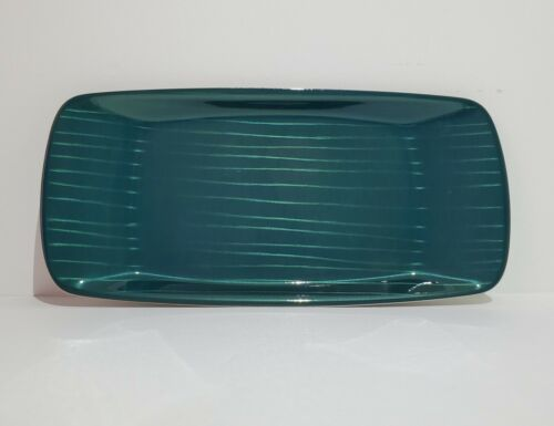 Cathrineholm Striped Tray CATHEDRAL STREK Platter Teal Blue