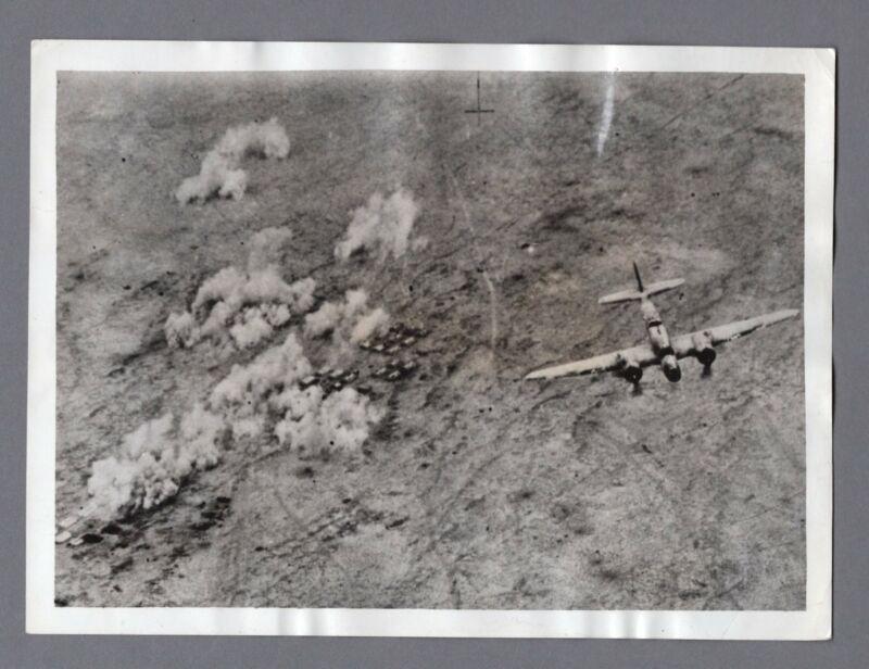 MARTIN 167 MARYLAND RAF EL ADEM AXIS BOMBING ORIGINAL VINTAGE PHOTO