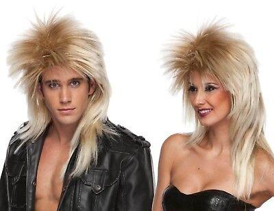 80's Heavy Metal GLAM Rock Poison Def Leppard WIG Long Rocker Costume Blonde (80s Rock Wig)