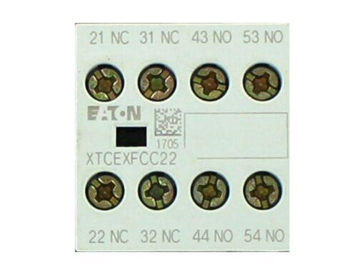EATON Cutler-Hammer Miniature Contactor -AUXILIARY CONTACT  XTCEXFCC22