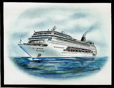 Original Art Work     Msc  Sinfonia    Msc    Cruise Ship