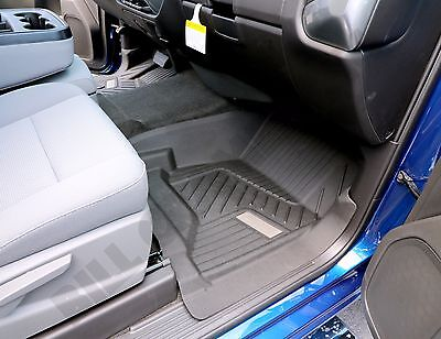 2015 2018 Chevrolet Silverado GM OEM Front All Weather Floor Mats NEW   Black