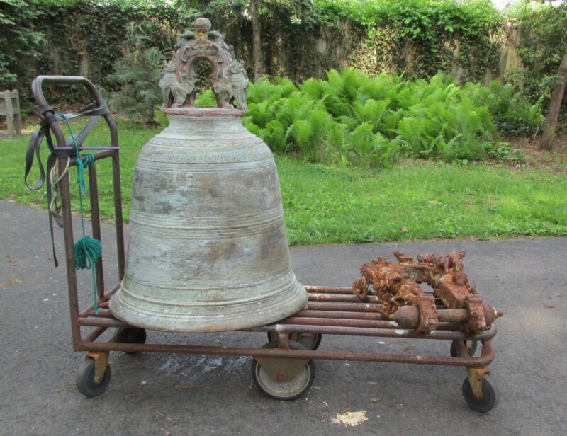 Monumental  Antique Thai  Bronze South East Asian Temple Bell